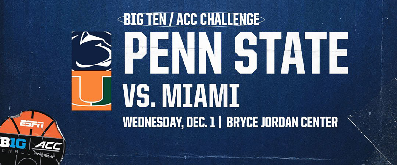 Penn State vs Miami Big Ten ACC Challenge