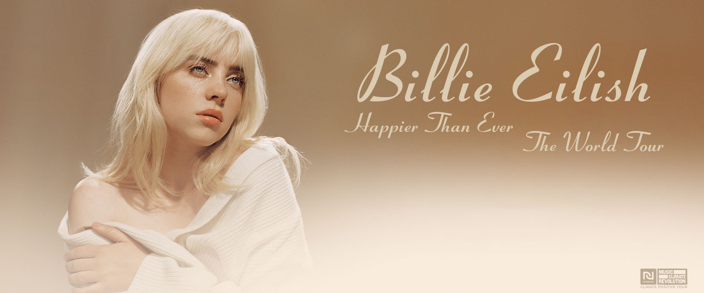 Banner ad of the Billie Eilish Happier Than Ever The World Tour