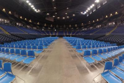Arena End Stage Floor with Chairs
