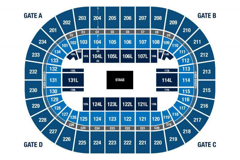 BJC Center Stage Seating View
