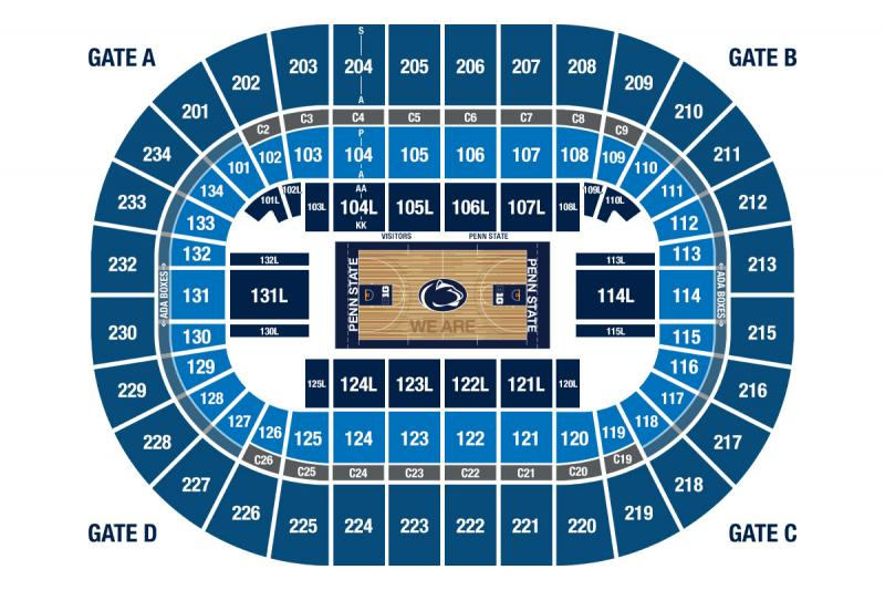 BJC Basketball Game Seating View