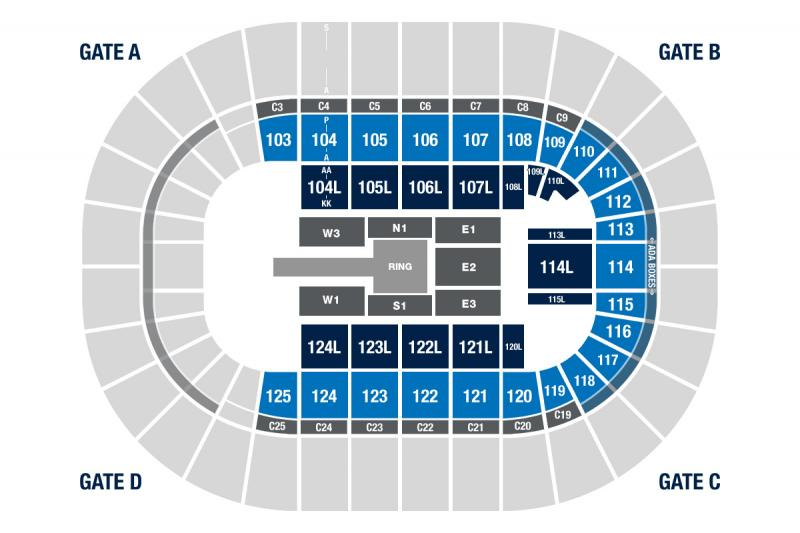 WWE Live Road to Wrestlemania Seating Chart
