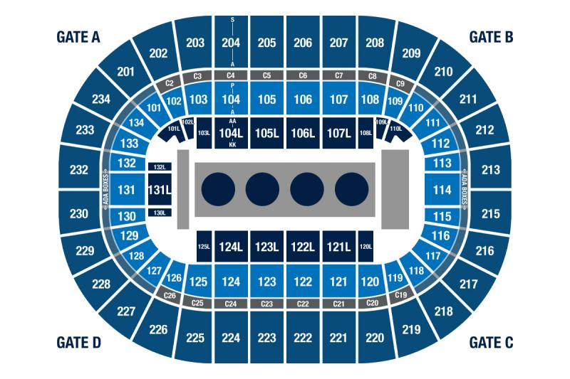 U.S. Olympic Team Trials Wrestling Seating Chart