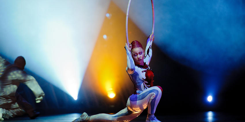 Internationally recognized acrobats, musicians & characters of Cirque du Soleil presented Quidam at the BJC in 2011.