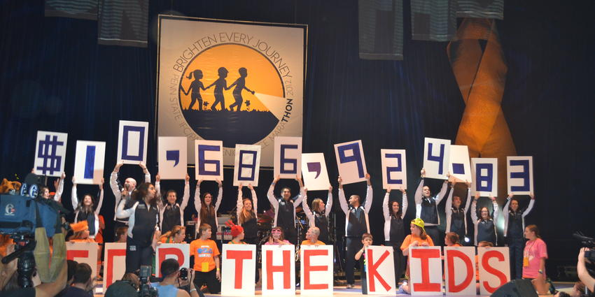 THON 2012 raised $10,686,924.83 for pediatric cancer.