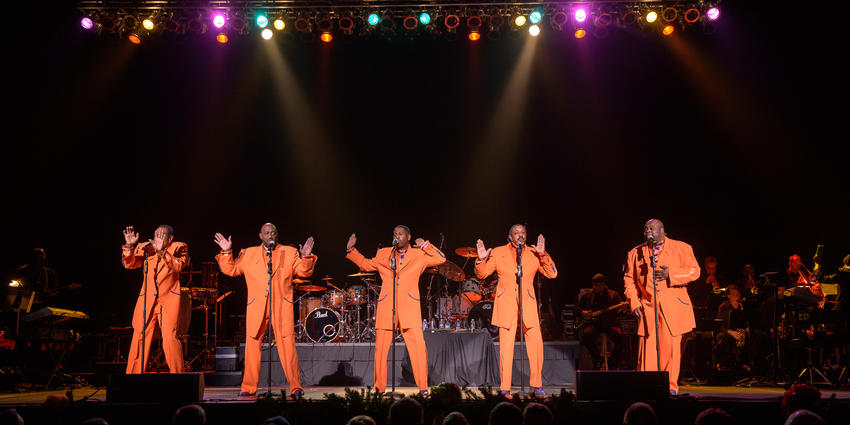 The Temptations & The Four Tops preform classic Motown hits and Christmas tunes on stage at the Bryce Jordan Center in 2012.