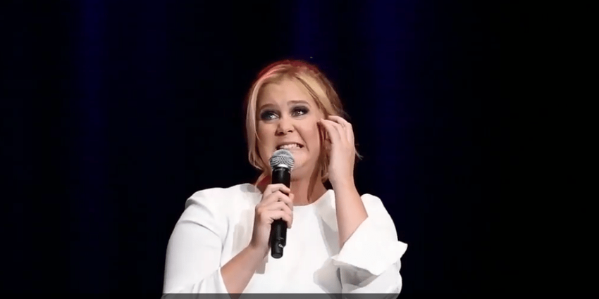 Amy Schumer performs her stand-up comedy for the crowd at the BJC in 2016