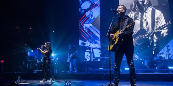 Worship band on stage at BJC during Winter Jam Spectacular Tour 2019