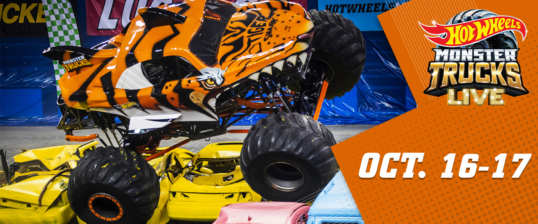 Hot Wheels Monster Trucks Live October 16 and 17, 2021 at the Bryce Jordan Center